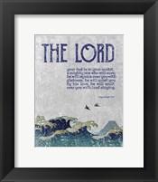 Framed Zephaniah 3:17 The Lord Your God ( Waves)