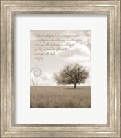 Framed Zephaniah 3:17 The Lord Your God (Grey Landscape)