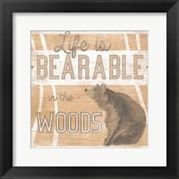 Lodge Life III Framed Print