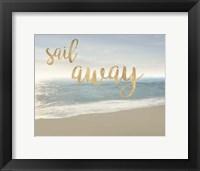 Framed Beach Sail Away