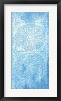 Cobalt Deco Panel I Framed Print