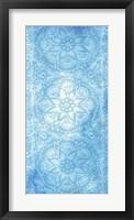 Cobalt Deco Panel II Framed Print
