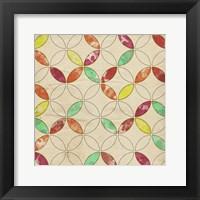 Framed Geometric Color Shape I