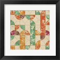 Framed Geometric Color Shape III