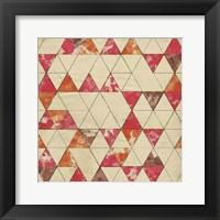 Framed Geometric Color Shape IV