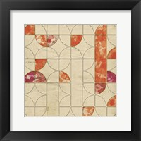 Framed Geometric Color Shape V