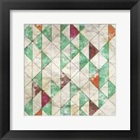 Framed Geometric Color Shape VIII