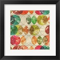 Framed Geometric Color Shape IX