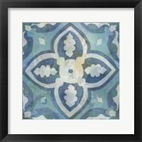 Patinaed Tile IV Framed Print