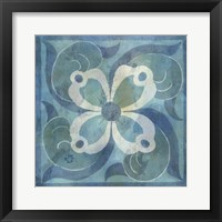Patinaed Tile V Framed Print