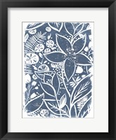 Garden Batik I Framed Print