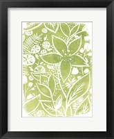Framed Garden Batik III