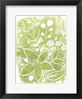 Garden Batik IV Framed Print