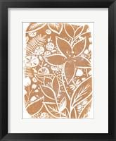 Garden Batik V Framed Print