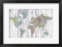 Boho Map II Framed Print