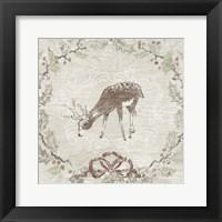 Cabin Christmas VI Framed Print