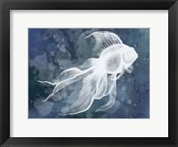 Framed Indigo Fish II