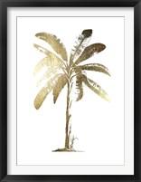 Framed Gold Foil Tropical Palm II- Metallic Foil