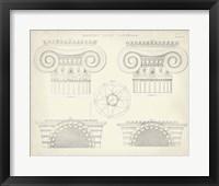 Framed Greek & Roman Architecture VIII