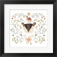 Framed Whimsical Woodland Faces II