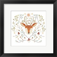 Whimsical Woodland Faces III Framed Print