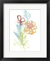 Framed Flora Moderne I