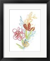 Framed Flora Moderne III