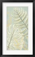 Palm & Coral Panel I Framed Print