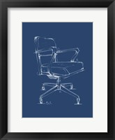 Framed Office Chair Blueprint I