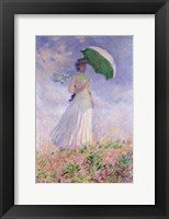 Framed Woman with a Parasol turned to the Right, 1886