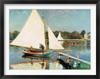 Framed Sailing at Argenteuil, c.1874
