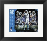 Framed Carolina Panthers 2016 Team Composite