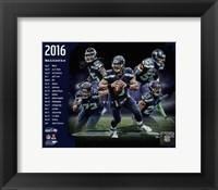 Framed Seattle Seahawks 2016 Team Composite