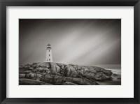 Framed Peggy's Cove Lighthouse