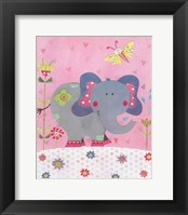 Framed Paper Elephant
