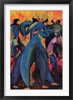 Framed Baile Azul