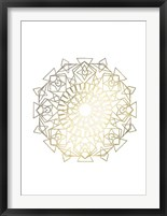 Gold Foil Mandala I - Metallic Foil Framed Print