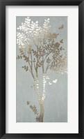 Framed Sage Silhouette I - Metallic Foil