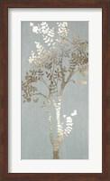 Framed Sage Silhouette II - Metallic Foil
