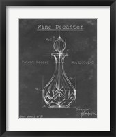 Framed Barware Blueprint VIII