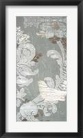 Gilded Damask Songbird II - Metallic Foil Framed Print