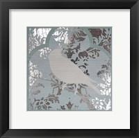 Framed Trellis Songbird II - Metallic Foil