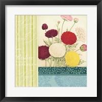 Floral Montage III Framed Print