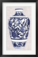 Blue & White Vase IV Framed Print