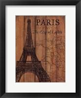 Framed Paris Travel Poster