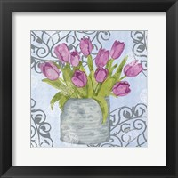 Garden Gate Flowers II Framed Print