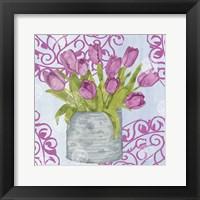 Garden Gate Flowers IV Framed Print