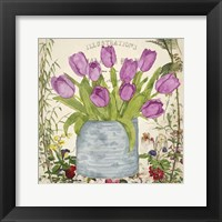 Framed Vintage Tulip Can II