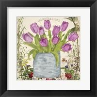 Framed Vintage Tulip Can II