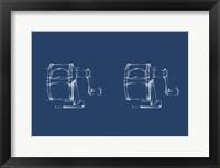 Framed 2 Up - Office Supply Blueprint I